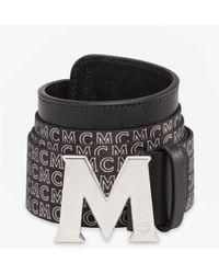 MCM Claus M Monogram Webbing Belt 3.8 Cm - Black
