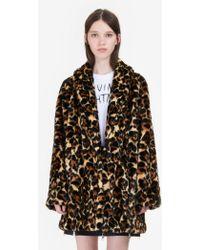 McQ - Leopard Faux Fur Coat - Lyst