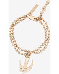 McQ Ball Chain Swallow Bracelet - Metallic