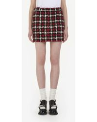 McQ - Houndstooth Mini Skirt - Lyst