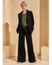 ME+EM Cotton Cord Wide Leg Transformer Trouser + Belt - Black