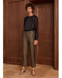 ME+EM Metallic Brocade Slim Crop Trouser - Multicolour