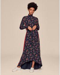 ME+EM - Floral Sheer Sleeve Dress - Lyst