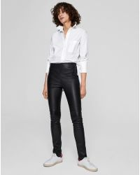 ME+EM - Leather Legging With Suede Side Stripe - Lyst