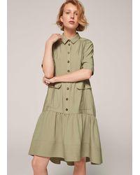 ME+EM Cargo Pocket Swing Dress - Green