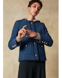 ME+EM - Italian Tweed Jacket - Lyst