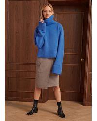 ME+EM Houndstooth Wrap Pencil Skirt - Multicolour