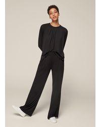 ME+EM Pleat Detail Wide-leg Lounge Trouser - Black