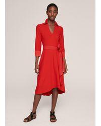 ME+EM - Stitch Detail Wrap Dress - Lyst