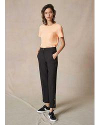 ME+EM Crease-free Slim Crop Trouser - Black