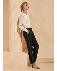 ME+EM Luxe Crepe Cigarette Trouser - Black