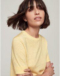 ME+EM - Linen Knit Tee - Lyst
