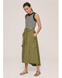 ME+EM Cargo Belted Skirt - Green