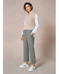 ME+EM Houndstooth Slim Crop Trouser - Multicolour