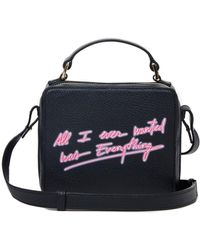 "meli melo Mini Art Bag | ""all I Ever Wanted Is Everything""- Olivia Steele | Black"