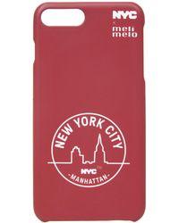 meli melo - Nyc Phone Case | 6plus , 6splus, 7 , 8, 7plus , 8plus, X , Xs | Manhattan Red - Lyst