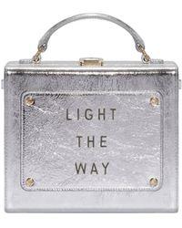 "meli melo Art Bag ""light The Way"" Olivia Steele Silver Bag For Women - Metallic"