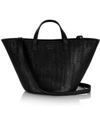 meli melo - Rosalia Mini   Cross Body Bag   Black Large Woven - Lyst