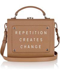 "meli melo Art Bag ""repetition Creates Change"" Rebecca Ward Light Tan Leather Bag For Women - Brown"