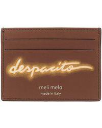 "meli melo - Leather Card Holder | ""despacito""- Olivia Steele | Almond Neon - Lyst"