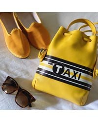 meli melo New York City Taxi Yellow Backpack