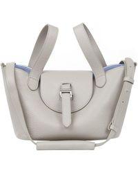 e4a3373559e7 Lyst - Meli Melo Fleming Medium Tote Bag Taupe in Gray