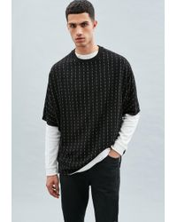 Mennace - Black Pinstripe T-shirt - Lyst