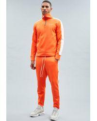 Mennace - Orange Tricot Knit Half-zip Tracksuit Top - Lyst