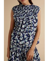Merlette Xanica Print Blouse - Blue