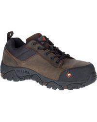 2a6da408dfb Merrell Moab 2 Vent Waterproof Comp Toe Work Shoe Wide Width for Men ...