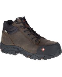 0acae6bab5 Merrell Moab Rover Pull On Comp Toe Work Boot Wide Width in Brown ...