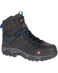 Merrell - Phaserbound Mid Waterproof Comp Toe Work Boot Wide Width - Lyst