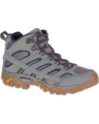 Merrell Moab 2 Mid Wp Hiking Shoe - Gray