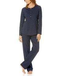 Mey Langer Damen-Schlafanzug - Blau