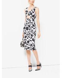 214138994281 Michael Kors Matte Jersey Halter Gown in Black - Lyst