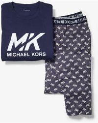 Michael Kors Pijama de algodón con logotipo - Azul