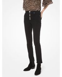 Michael Kors Stretch-denim High-rise Skinny Jeans - Black