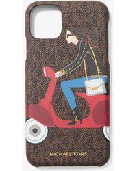 MICHAEL Michael Kors Cover Per Cellulare Jet Set Girls Whitney Per Iphone 11 Pro Max - Marrone