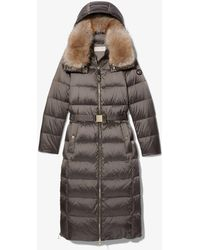 Michael Kors Quilted Nylon Belted Puffer Coat - Multicolour