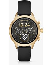 Michael Kors - Runway Gold-tone And Silicone Smartwatch - Lyst