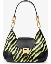 afcf665437a6d Michael Kors - Bancroft Medium Zebra Calf Hair Shoulder Bag - Lyst