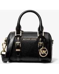 Michael Kors Bedford Legacy Extra-small Pebbled Leather Duffle Crossbody Bag - Black