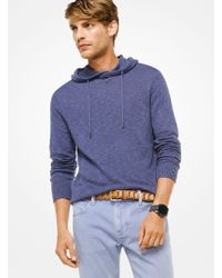 Michael Kors - Cotton And Linen Hoodie - Lyst