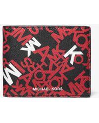 Michael Kors Brieftasche Cooper Mit Grafischem Logo Und Ausweishülle - Rot