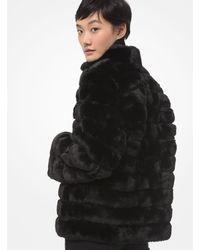 Michael Kors Quilted Faux Fur Jacket - Black