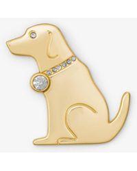 Michael Kors - Gold-tone Dog Pin - Lyst
