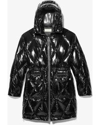 Michael Kors Diamond Quilted Ciré Puffer Coat - Black