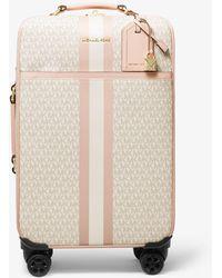 MICHAEL Michael Kors Bedford Travel Extra-large Logo Stripe Suitcase - Pink