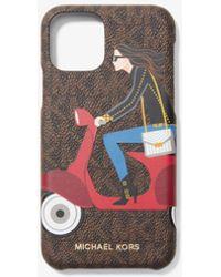 MICHAEL Michael Kors Cover Per Cellulare Jet Set Girls Whitney Per Iphone 11 Pro - Multicolore