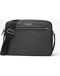 Michael Kors Hudson Large Logo Camera Bag - Black